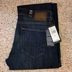 """MAVI Zach straight leg jeans 33-34"""" NEW!"""